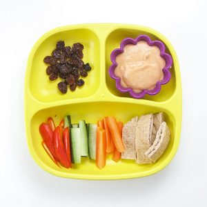 carrot hummus toddler lunch