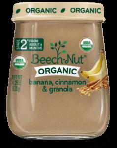 banana cinnamon and granola