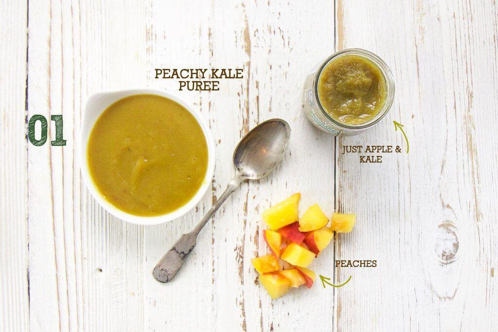 peachy kale purée pairing