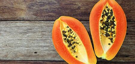 pureed papayas