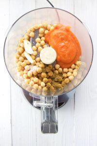 ingredients for beech-nut carrot hummus