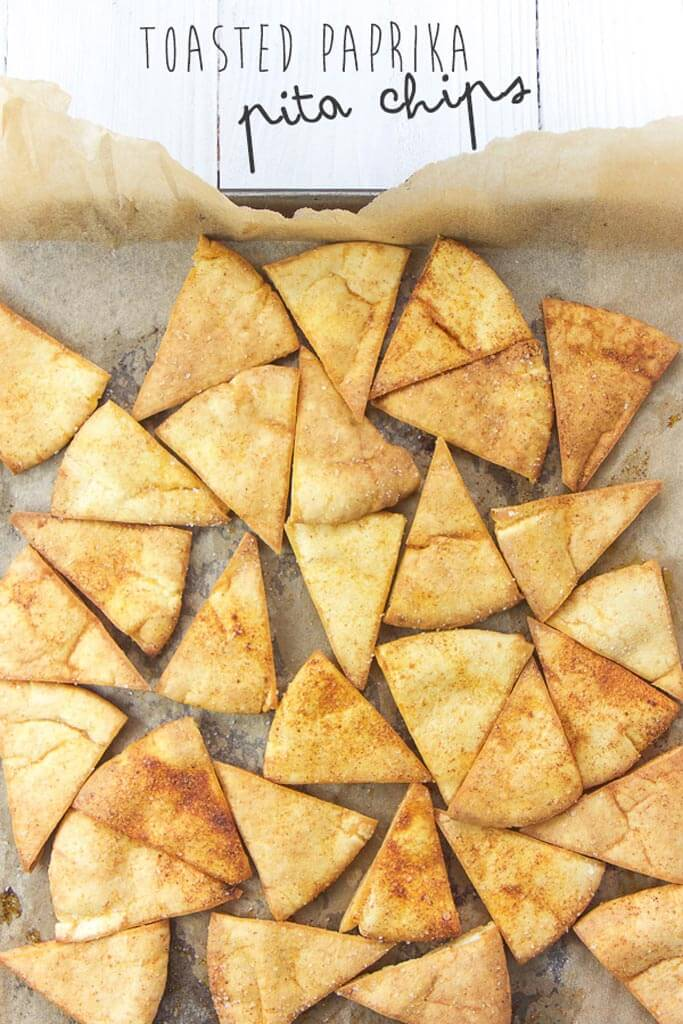 ingredients for beech-nut paprika pita chips