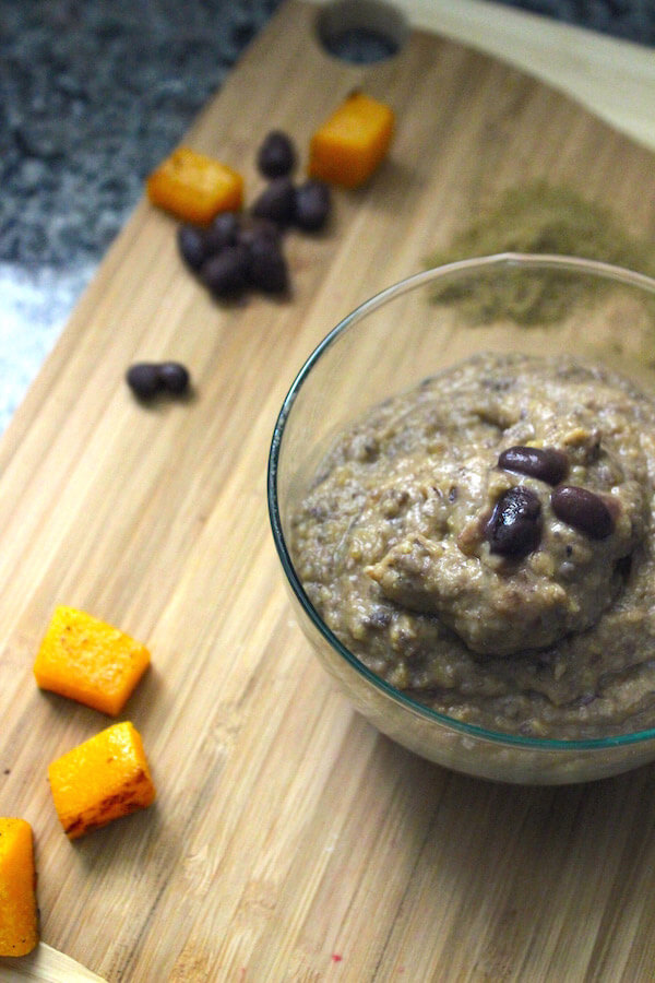 butternut squash black bean and cumin purée