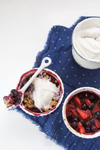 ingredients in blueberry crisp for adults